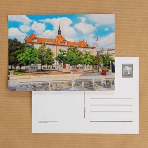 Carte postale au pastel sec - La Tour-de-Peilz - Le Collège des Marronniers