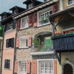 Bourg-Dessous, La Tour-de-Peilz, pastel sec