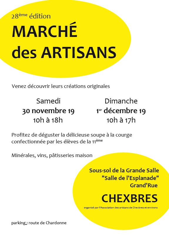 Affiche marché des artisans de Chexbres