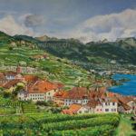 Paysage du Lavaux - Rivaz