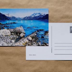 Carte postale au pastel sec - La Tour-de-Peilz - Paysage du Léman