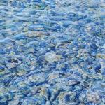 Reflets d'eau vive au pastel sec