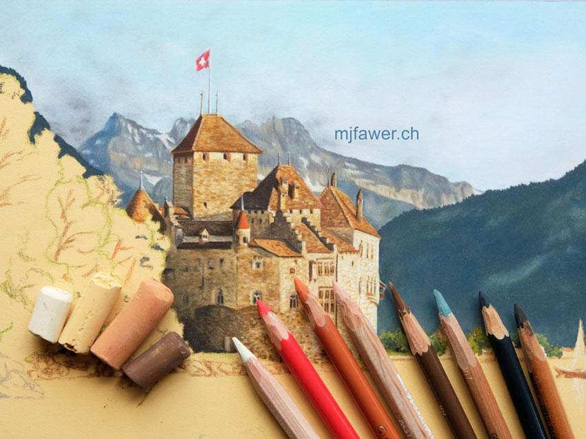 Le château de Chillon de Courbet à nos jours