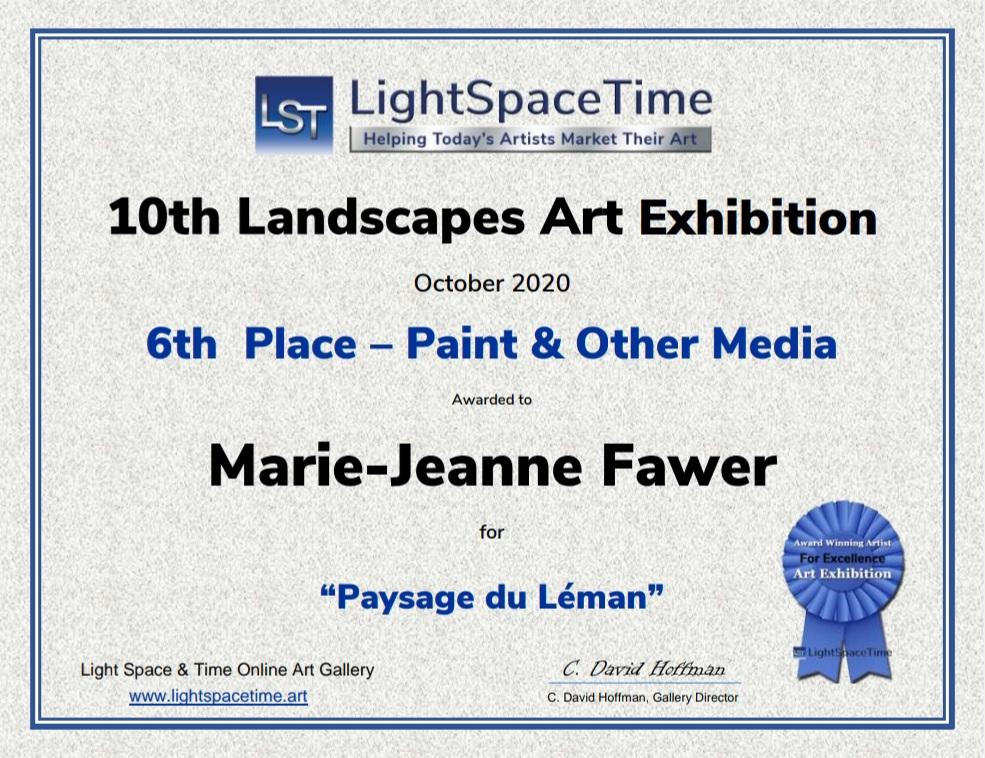 Paysage du Léman - pastel sec - 6ème place LST