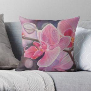 Coussin orchidée Redbubble