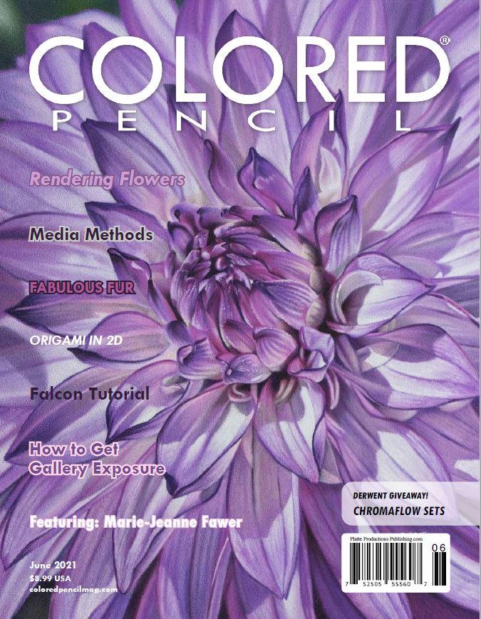 Article COLORED PENCIL Magazine juin 2021