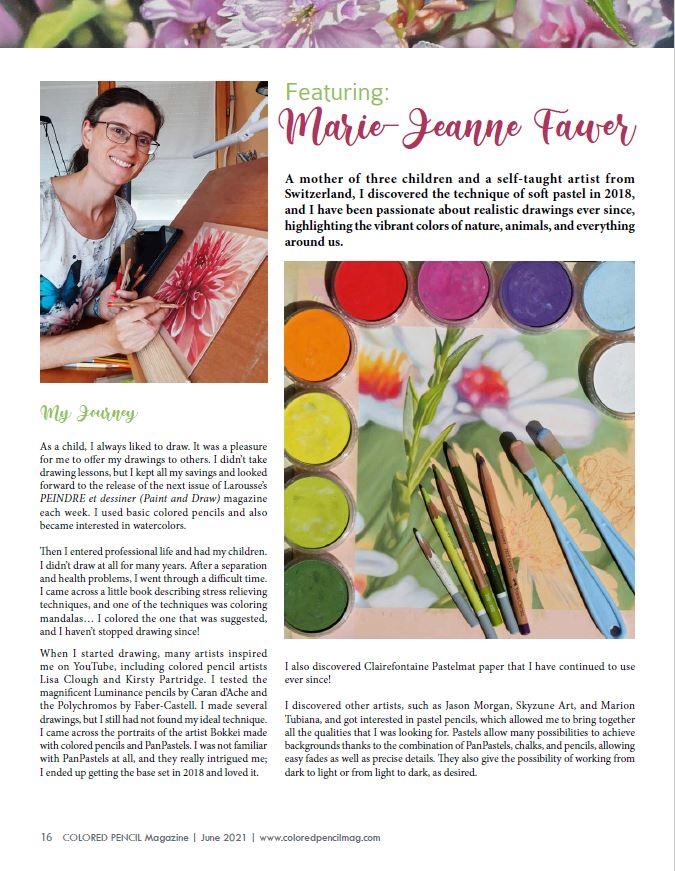 Article COLORED PENCIL Magazine