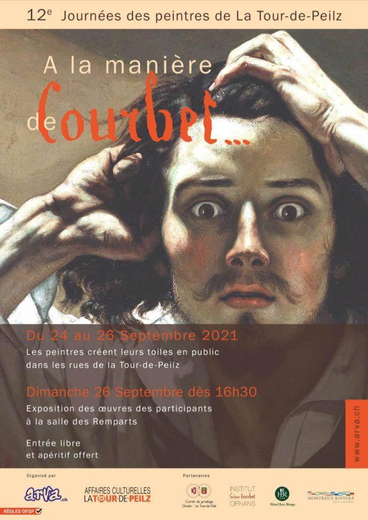 Affiche journées des peintres à la manière de Courbet